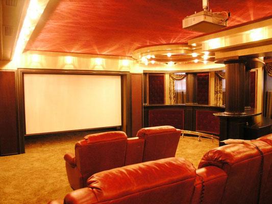 Персональный кинозал, 2007 г., Загородный дом (цокольный этаж), Акустика B&W (фото 2)