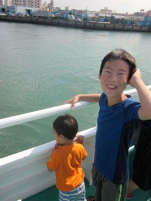 高速艇へ乗船