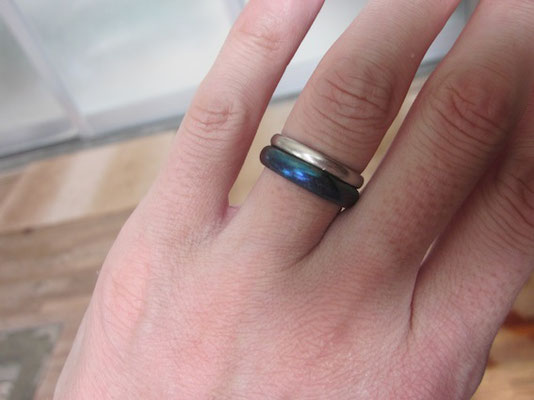 温泉で指輪が真っ黒になってしまったけど。