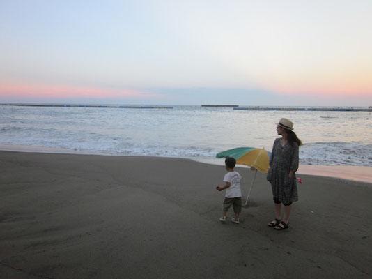 台風の影響で夕方から波が高い