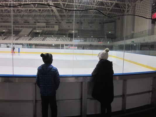 再従兄弟とスケート