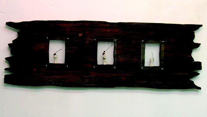HUTTIE Nr. #51,#54,#49 in wood. 120 cm x 60 cm. Preis 950,- €