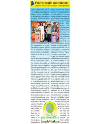 Popcornworld Presseartikel Wochenblatt