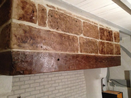 Récupération de la pierre de la cheminée