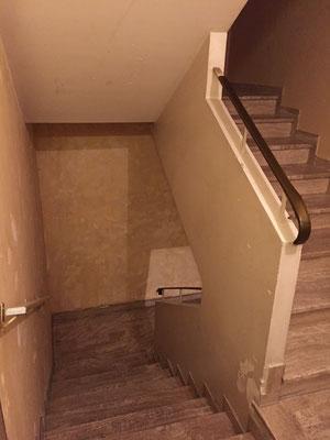Travaux cage d'escalier bâtiment B