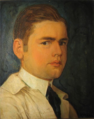 Karl Hauenherm Selbstbildnis