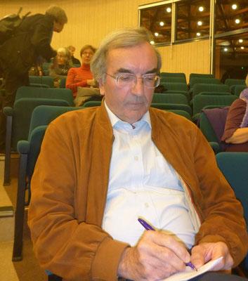 Jacques Le Goff avant la conférence