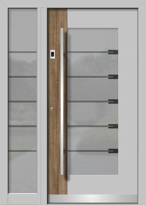 Holz-Alu-Haustür Zulissen