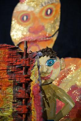 Der Teufel mit den drei goldenen Haaren / Hans beim Teufel / Mobiles Kindertheater Berlin / Theater Malinka