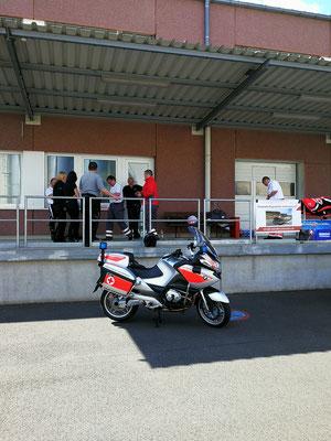 Das neue Einsatzmotorrad von der Kradstaffel Hösbach