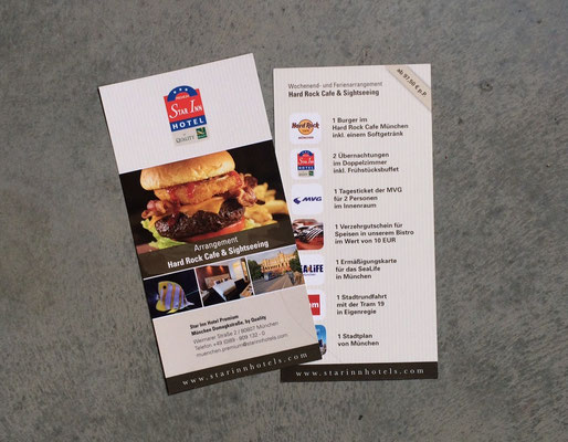 Flyer für Hard Rock Cafe Arrangement