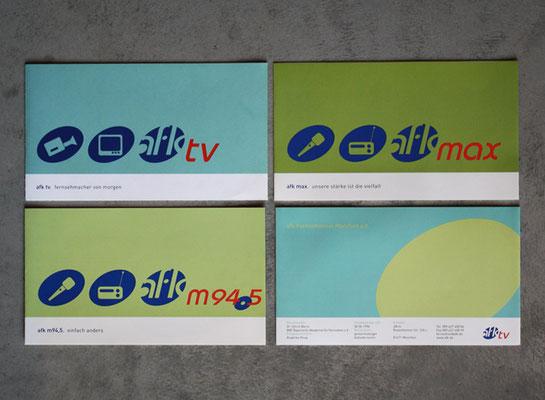 Faltblätter Din lang quer: afk tv, afk max, afk m94.5