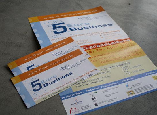 Veranstaltungsflyer 5 Euro Business