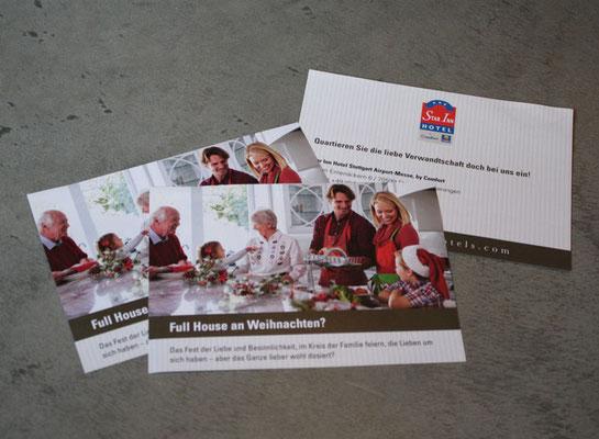 Flyer für Star Inn Hotel Stuttgart, Weihnachtsmarketing