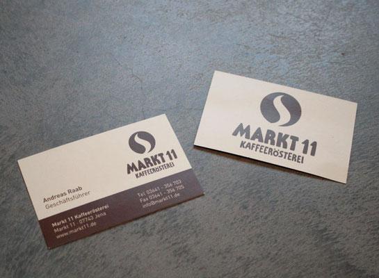 Geschäftspapiere für Markt11 Kaffeerösterei