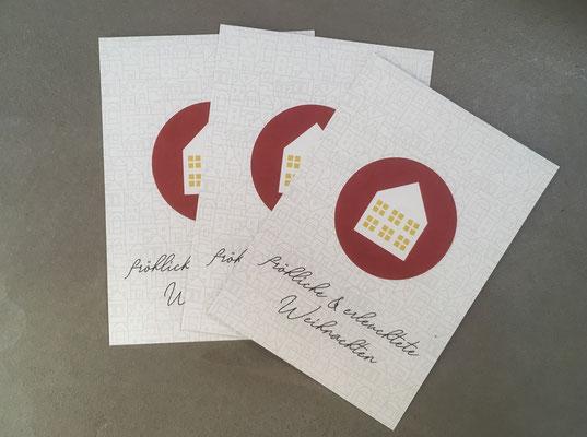 """Weihnachtskarten mit """"Lichttüte"""""""