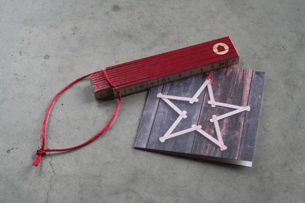 Meterstab als Kundenweihnachtsgeschenk