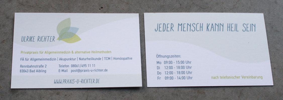 Logoentwicklung, Geschäftsausstattung, Website für Privatpraxis Ulrike Richter