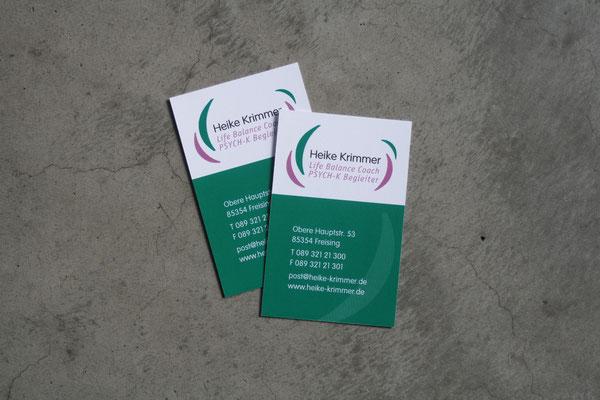 Logo, Geschäftspapiere, Flyer für Heike Krimmer