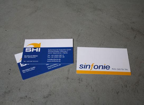 Geschäftspapiere für SHI