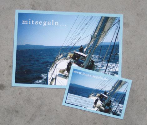 Flyer und Visitenkarte Mitsegeln