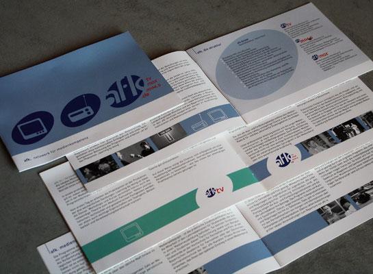 Broschüren afk tv, afk max, afk m94.5, afk GmbH