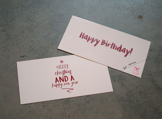 Weihnachtskarte und Geburtstagskarte Star Inn Hotels