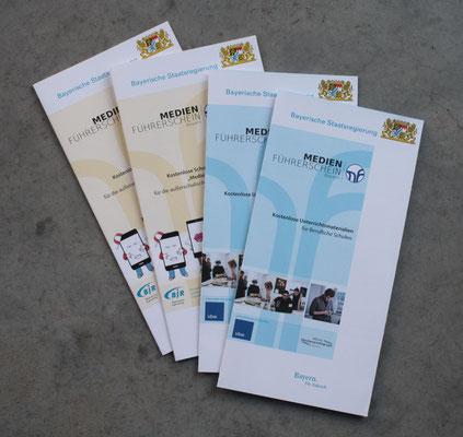 Faltblätter für jede Einheit des Medienführerscheins