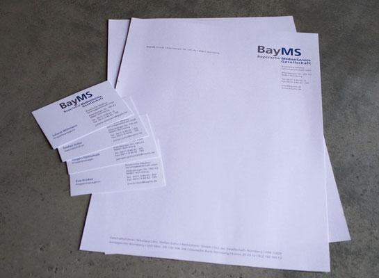 Logoentwicklung und Geschäftsausstattung für BayMS