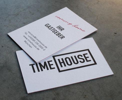 Visitenkarten auf Farbkern-Papier