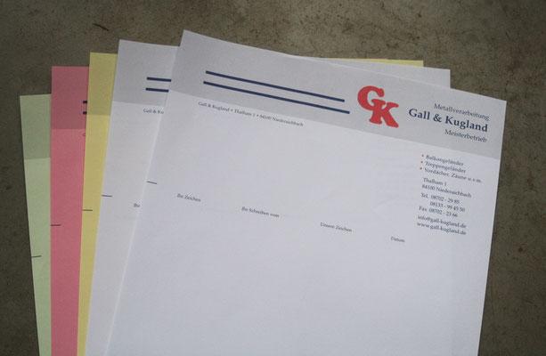 Gall & Kugland Metallbau -  Durchschreibesätze