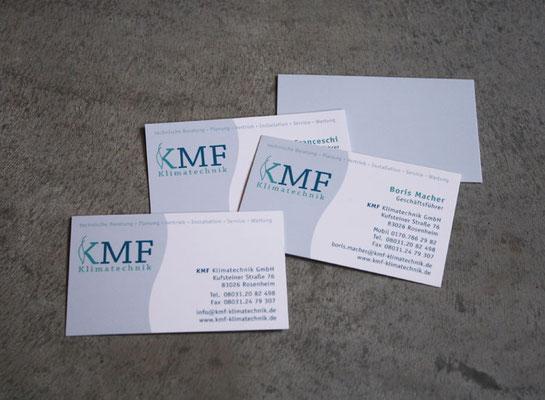 Logoentwicklung und Geschäftsausstattung für KMF Klimatechnik