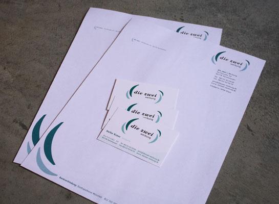 Logoentwicklung und Geschäftsausstattung für Die Zwei