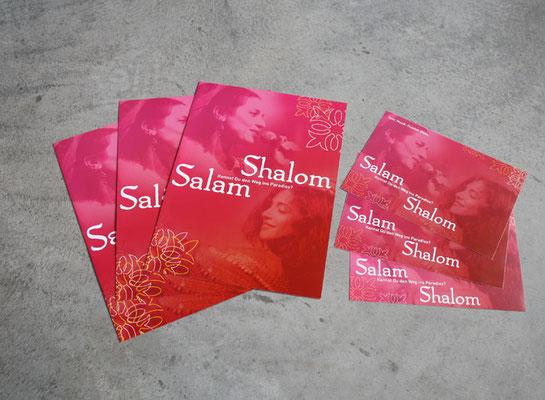 Faltblatt und Postkarten Salam Shalom