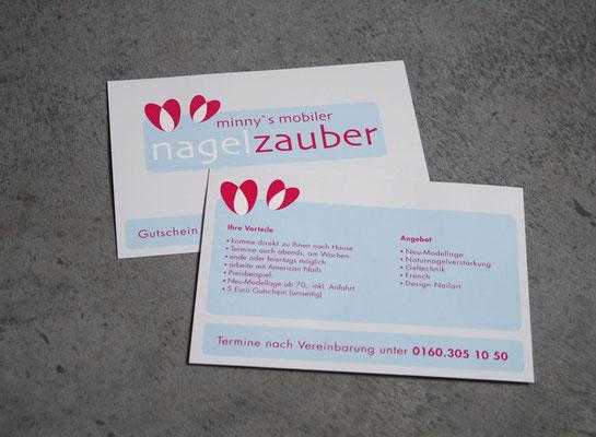 Logoentwicklung, Geschäftspapiere für Nagelzauber