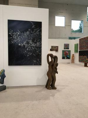 Beim Aufbau der Ausstellung