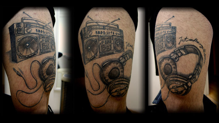 TATUAJE MUSICA, music tattoo