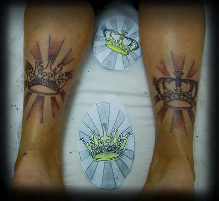 TATUAJE CORONAS LINEA, crowns tattoo