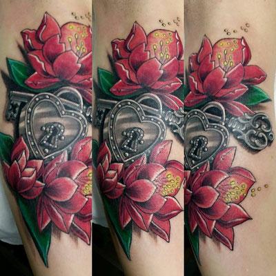 floral tattoo, tattoo floral