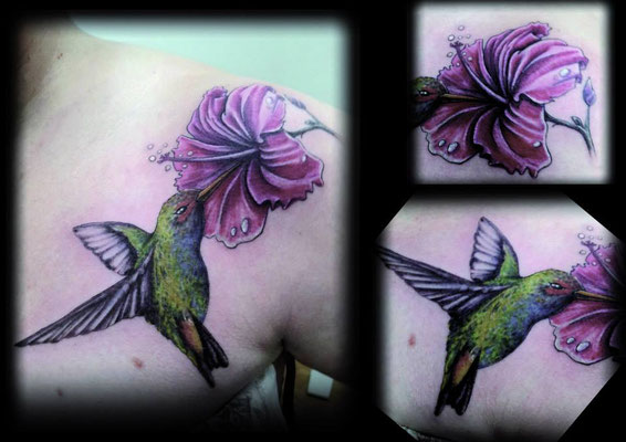 hummingbird tattoo, colibrí tattoo