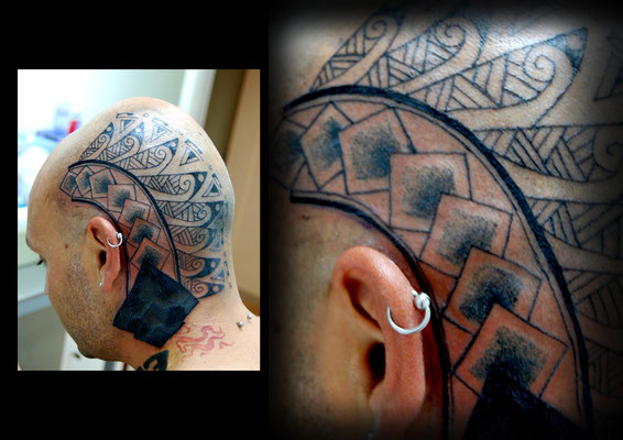 TATUAJE EN CABEZA, head tattoo