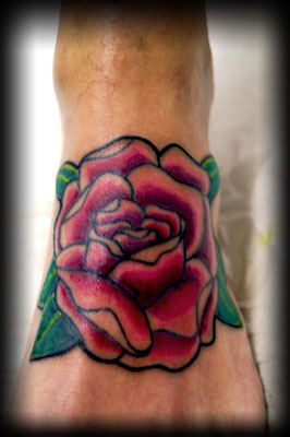 ROSA OLD SCHOOL, old school rose tattoo