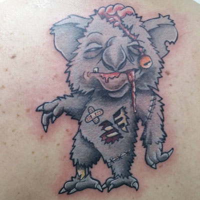 TATTOO KOALA ZOMBIE, koala zombie tatoo