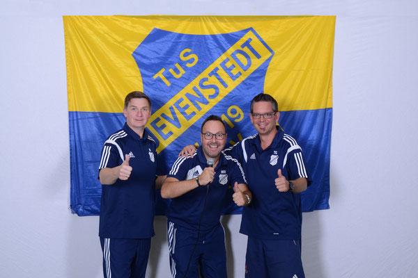 Stadionsprecher von links nach rechts: Ingo Knittler, Matthias Rohwer, Timo Görlitz