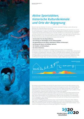 Kulturdenkmal, Sportstätte und Ort der Begegnung_Ausstellung Mannheim 100 Jahre Herschelbad. Konzeption & Text: Kathleen Hirschnitz. Gestaltung: Frank Weiss