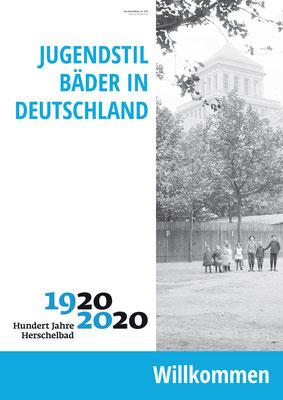 Herzlich Willkommen_Ausstellung Mannheim 100 Jahre Herschelbad. Konzeption & Text: Kathleen Hirschnitz. Gestaltung: Frank Weiss