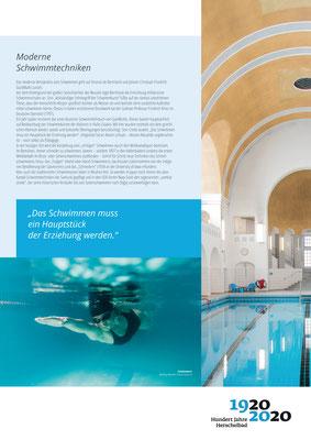 Moderne Schwimmtechniken_Ausstellung Mannheim 100 Jahre Herschelbad. Konzeption & Text: Kathleen Hirschnitz. Gestaltung: Frank WeissModerne Schwimmtechniken