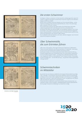 Geschichte des Schwimmens_Ausstellung Mannheim 100 Jahre Herschelbad. Konzeption & Text: Kathleen Hirschnitz. Gestaltung: Frank Weiss
