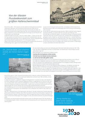 Einführung Herschelbad_Ausstellung Mannheim 100 Jahre Herschelbad. Konzeption & Text: Kathleen Hirschnitz. Gestaltung: Frank Weiss