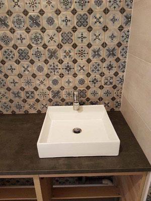 Vasque à poser et lavabo posés par nos plombiers à Rennes